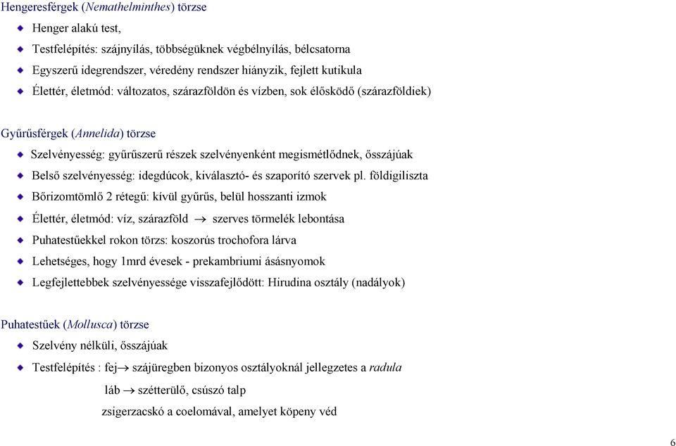 specifikus parazita elemzések