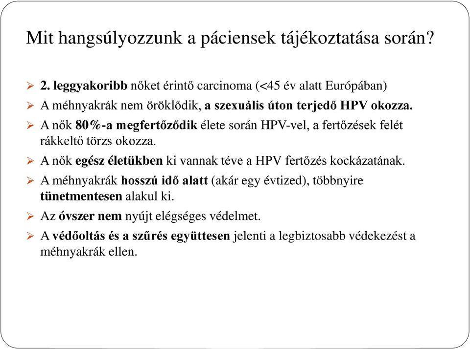 humán papilloma vírus vakcina metaanalízis bőrrák nőknél